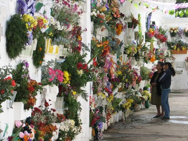 Toussaint au cimetière d'Antigua