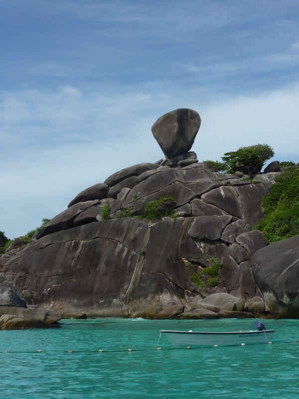 kho Similan : ses blocs granitiques